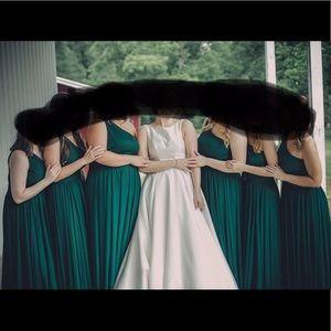 Davids Bridal Bridesmaid Dress Size 12 Juniper
